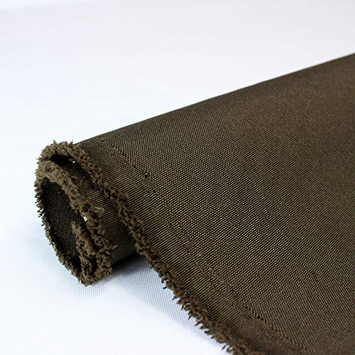 Waterproof Canvas Fabric Outdoor 600 Denier Indoor/Outdoor Fabric by the yard PU Backing W/R, UV, 2times GOOD PU Color : CHOCOLATE 5 Yards