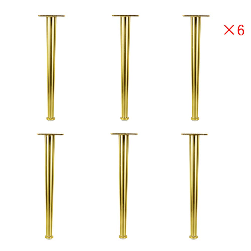 LLPEIJIE026 Metal Sofa Legs, Gold Bright Coffee Table Legs, Cabinet Feet Support Legs 3 Sizes (20cm/9in; 25cm/10in;30cm/12in) by LLPEIJIE026
