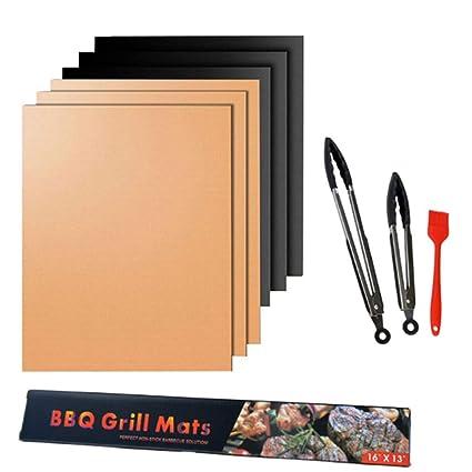 Grill Mats antiadherente parrilla de barbacoa para hornear Mats aprobado por la FDA reutilizable y fácil