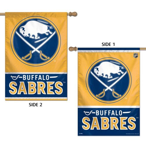 WinCraft NHL Buffalo Sabres 2 Sided Vertical Flag, 28 x - Buffalo Flag Sabres