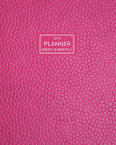 2019 Planner: Weekly and Monthly Agenda/Calendar Jan 2019 – Dec 2019 Faux Pink Leather Design Arrow Press