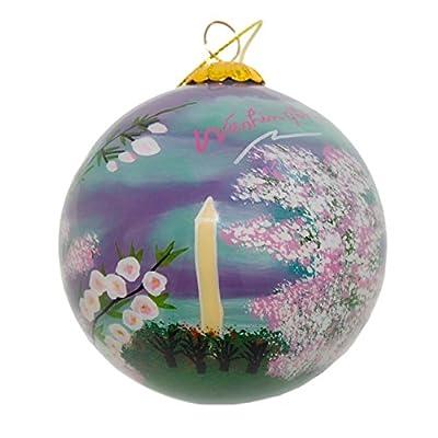Washington D. C. Glass Ornament - Washington Monument with Cherry Blossoms