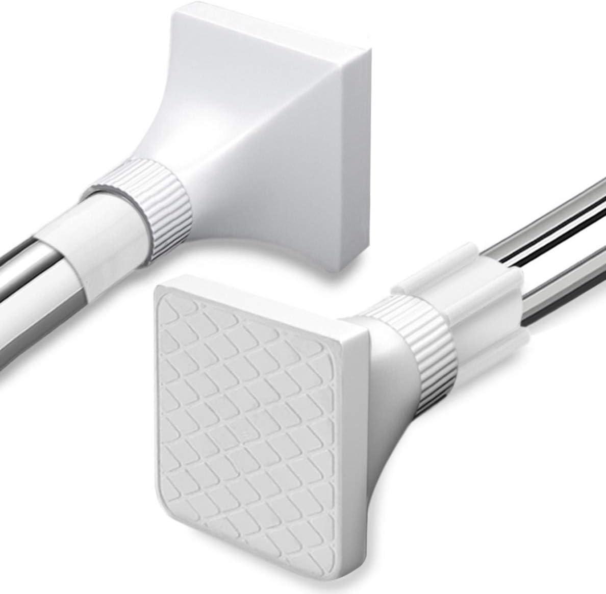 No Dril Extendable Telescopic Shower Curtain Tension Rod Stainless Steel Aluminium Telescopic Pole Rail Bath Closet Hanging Pole (68-120cm)