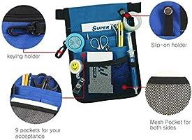 052ba681c3ea Olin Klein Waist Bag Nurse Pouch For Portable Tool Quick Pick, Pocket  Organizer Belt,Nurse Pouch Waist Bag,Medical Tool Pouch,9 Pockets, Long ...
