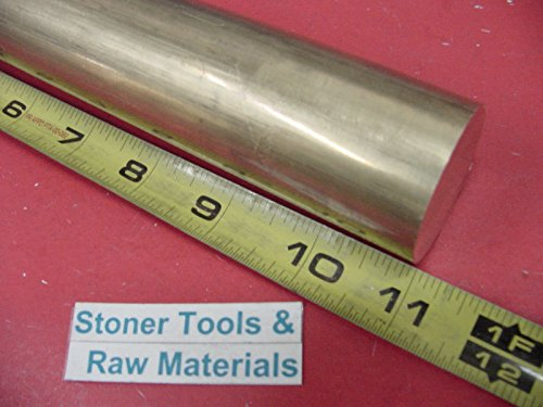 1-1/2'' C360 BRASS ROUND ROD 11'' long Solid 1.500'' OD H02 Lathe Bar Stock by Stoner Metals