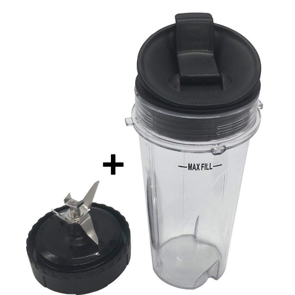 1 set Replacement Parts for Nutri Ninja Ultima Kitchen System BL810 BL820 BL830 , Bottom Blade Assembly with cup &lid for Nutri Ninja blender