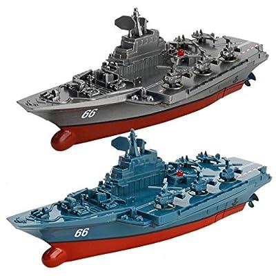 Firiodr Battleship RC Warship Remote Control Cruiser Speedboat Model Children Aircraft Carrier Toys: Computers & Accessories