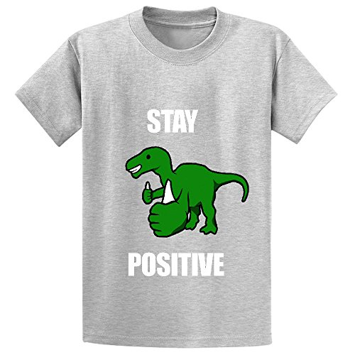 unicorn-stay-positive-iguanodon-girls-print-crew-neck-t-shirt-grey
