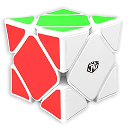 Ocamo Skewb Speed Magic Cube Wingy Concave Stickerless Cubo Puzzle Educational Toys White