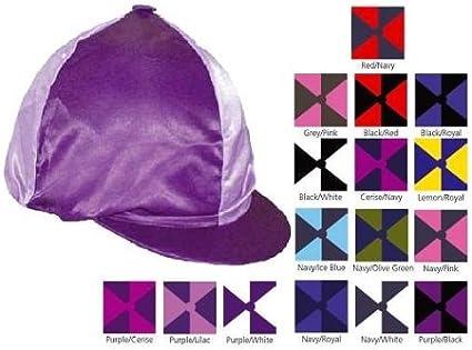 show original title Details about  /Woofwear Hat Cover Riding Helmet Silk All Colors Club Fit
