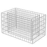 vidaXL Gabion Planter Galvanised Steel 90x50x50cm Stone Basket Raised Bed