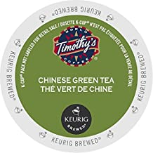 Timothy`s Chinese Green Tea Single Serve Keurig Certified K-Cup pods for Keurig brewers, 24 Count