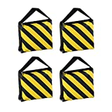 G-raphy 4 Pack Photography Sand Bag Studio Video Stage Film Sandbag for Light Stands Boom Arms Camera Tripods (Yellow)