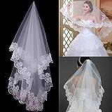 1 Layer 1.5m White Lace Bride Voile marriage Bridal Veil wedding accessories