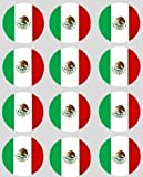 12 Mexican Flag rice paper fairy / cupcake 40mm toppers pre cut decoration