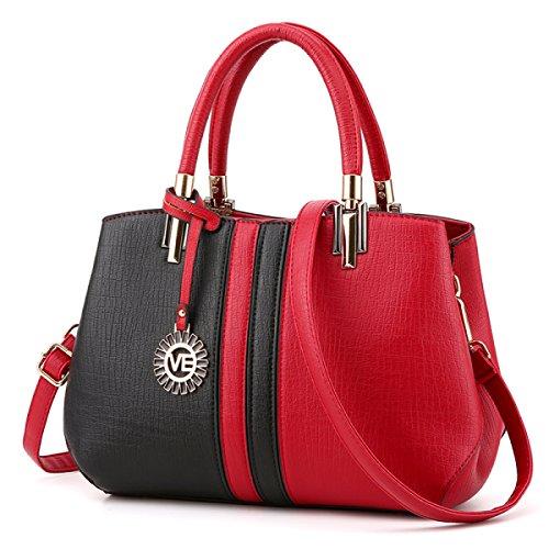Women Handbags Pu Leather Handbags Messenger Bag Simple Fashion Elegant Shoulder Bag Ladies Handbag Bag Black B