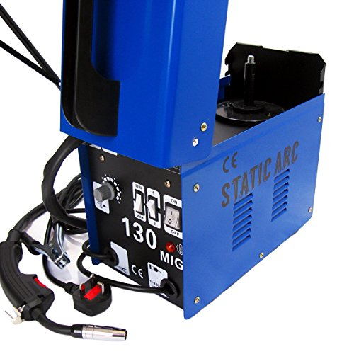 GASLESS MIG 130 WELDER NO GAS FLUX CORE AUTO WIRE FEED PORTABLE WELDING MACHINE