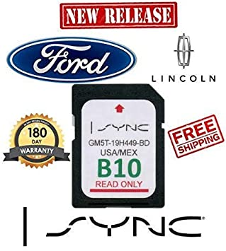Ford Lincoln B10 SYNC SD Card Navigation 2019 US Mexico Map Updates B9 B8