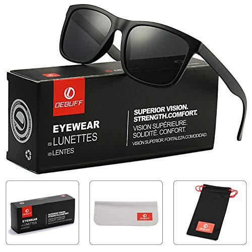 7542c3daaf3e9 DeBuff Unisex Polarized Sunglasses Classic Retro Sun Glasses