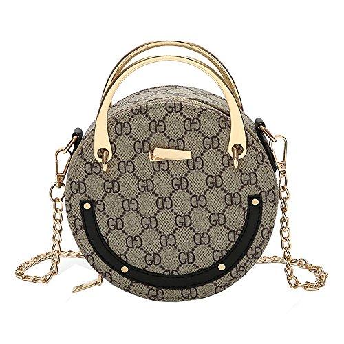 JUND - Bolso mochila para mujer caqui Negro