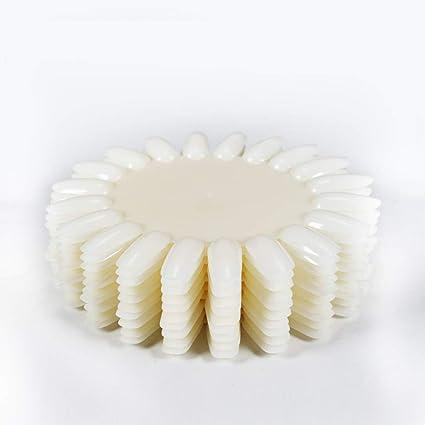 Chiic Tiro - Puntas de uñas postizas en forma de girasol de plástico ...