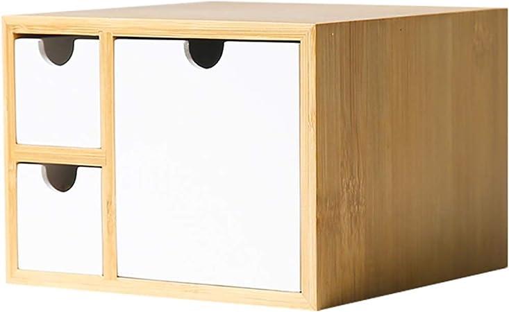 Wuxingqing Caja de Almacenamiento de Archivos Estante Organizador de Escritorio con cajones de Gran Escritorio, tocador, Mesa en la casa o la Oficina para Escritorio de Oficina: Amazon.es: Hogar