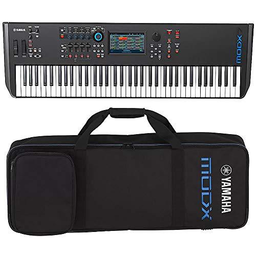 Yamaha MODX7 76-Key Semi-Weighted Action Keyboard Synthesizer with Yamaha MODX7 Soft Case
