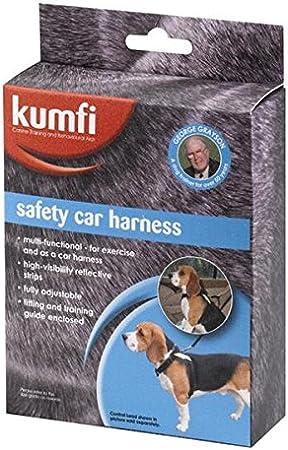 Kumfi - Arnés de Seguridad para Perro, tamaño pequeño, Color Negro ...