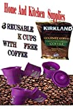 6 reusable filter for all Keurig K-Cup (6)- with 1 pack of Kirkland Colombian coffee 50 g