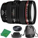 Canon EF 24-105mm f/4 L IS USM ZeeTech Premium Lens + ZeeTech Cloth for Canon Digital SLR Cameras