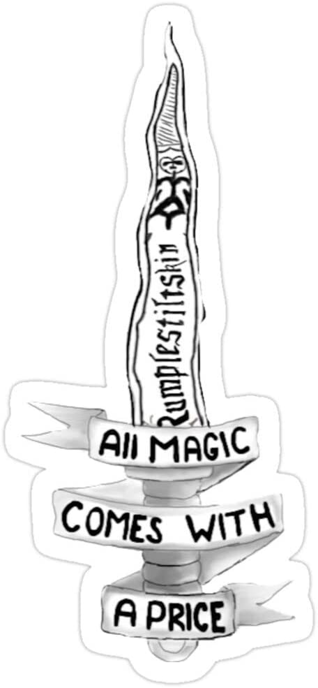 B. Strange Mall All Magic Comes with A Price Stickers (3 Pcs/Pack)