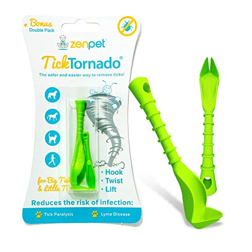 ZenPet Tick Tornado Tick Removal Tool For Dogs, Easy To Use Tick Remover for Pets ()