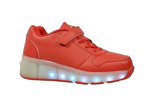 Golden Road Zapatos Intermitente LED Zapatillas Deportivas Rodillo con Rueda para niño/niña Adolescentes niños: Amazon.es: Zapatos y complementos