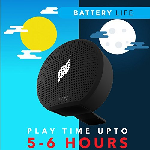Leaf Pop- Portable Wireless Bluetooth Speaker with Mic, Loud and Clear Audio, SD card reader, Aux, FM Radio and PHONE STAND (Carbon Black) by Leaf Studios (Image #2)