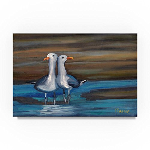 Lovebirds by Marnie Bourque, 16x24-Inch Canvas Wall Art (Best Coastal Towns In Connecticut)