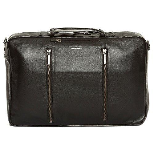 Albert Leather - Hook and Albert Leather 3-Way Carryall, Black (Black)