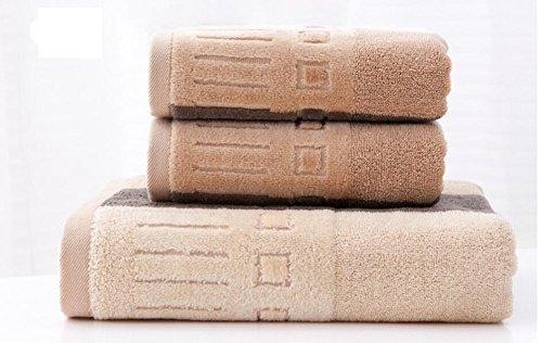 VEA-DE Men's Soft Cotton Velvet Towel Face Cloth