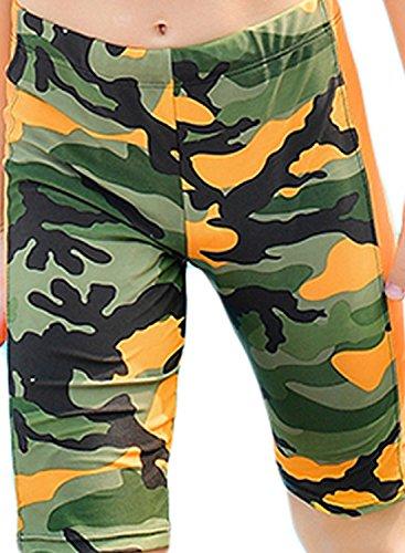 WUAMBO Boy's Kids Camouflage Swim Shorts Orange 8-10 Years (55-66lb) by WUAMBO (Image #1)