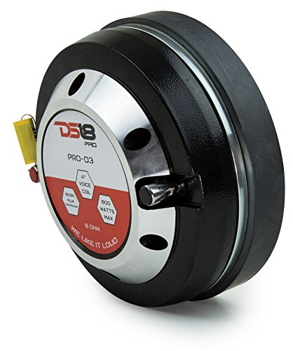 DS18 PRO-D3 600 Watts Resin Film Diaphragm Compression Driver Phenolic Voice Coil - Set of 1 - 4''