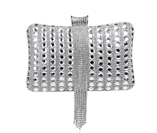 Diamonds Evening Banquet Exquisite Silver Handbag Handbag Women's Bag XgfW8g5x