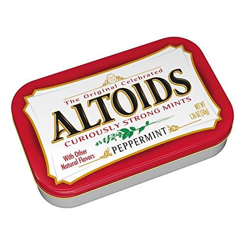 ALTOIDS Classic Peppermint Breath Mints, 1.76-Ounce - Mint Altoids Candy