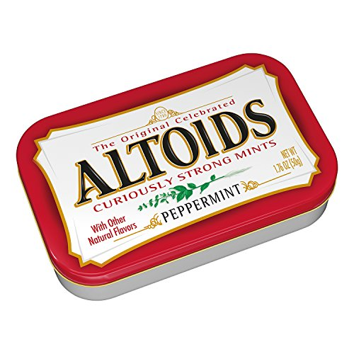 ALTOIDS Classic Peppermint Breath Mints, 1.76-Ounce Tin