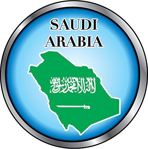 Saudi Arabia Map Flag Silver Medal Home Decal Vinyl Sticker 12'' X 12''