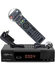 Kabelontvanger voor digitale kabeltelevisie - DVB-C (HDTV, DVB-C / C2, DVB-T/T2, HDMI, SCART, USB 2.0, ) + HDMI-kabel (+ intelligente afstandsbediening)