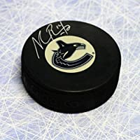 $33 » Alexandre Burrows Vancouver Canucks Autographed Hockey Puck - Autographed NHL Pucks