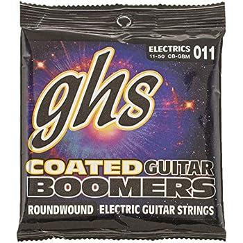 GHS Strings Coated Boomers, Nickel-Plated Electric Guitar Strings, Medium (.011.050) (CB-GBM