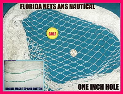 10 X 25 Fishing Net, Netting, for Golf Backstop, La Crosse, Soccer.