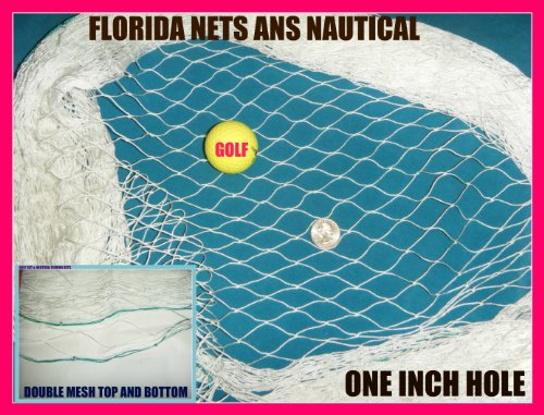 12 X 25 Fishing Nets for Golf Backstop, Hockey, Barrier, Sports, La Crosse, Soccer, Cage,