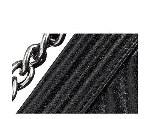 Véritable Sacs Femmes Bag Rhombique Main Messenger large pour Paquet Fourre Chaîne Classique Sacs Red À Satchel Bandoulière Diagonale Tout Cuir Designer Bandoulière À 6rwq5U06x