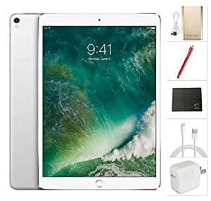 Apple iPad Pro 10.5 inch Wifi, 2017 model - 512GB Silver + USA Warehouses Accessories Bundle MPGJ2LL/A
